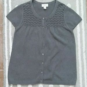Ann Taylor LOFT Gray Sweater